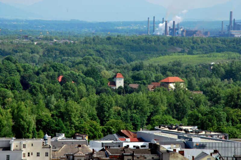 Slezskoostravský hrad z Věže Nové radnice