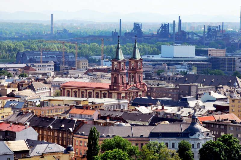 """Panorama """"Ostravských hradčan"""""""