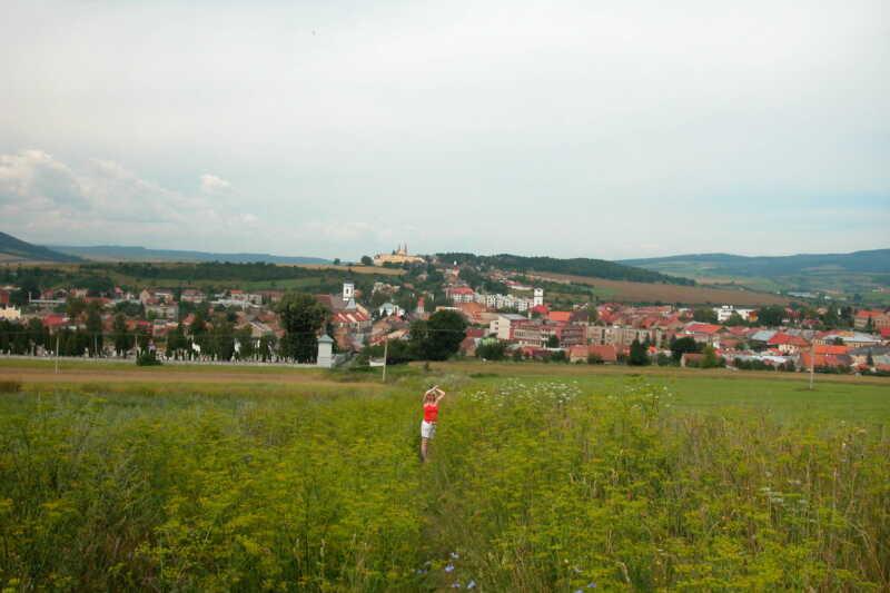 Z cesty na hrad - pohled na Spišské Podhradie