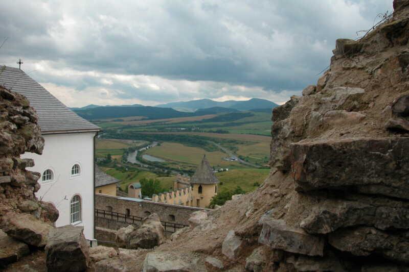 Výhled z hradu Stará Lubovňa