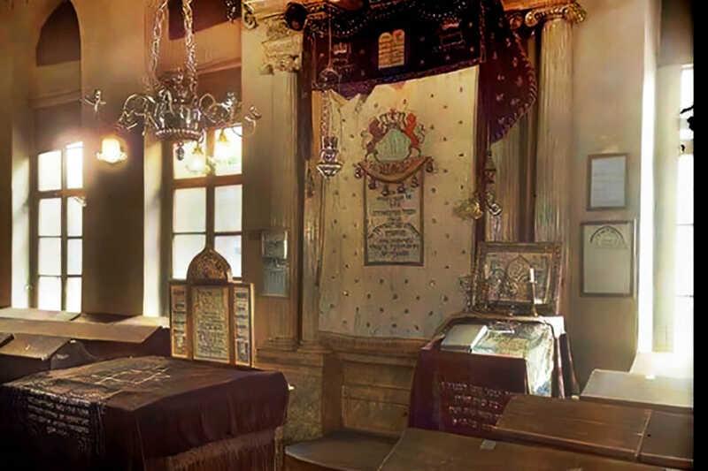 Interiér Staré synagogy