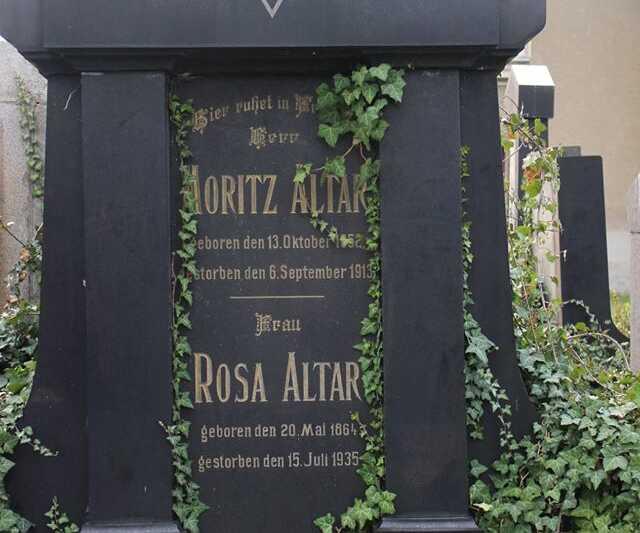 Zde odpočívají Rosa a Moritz Altar