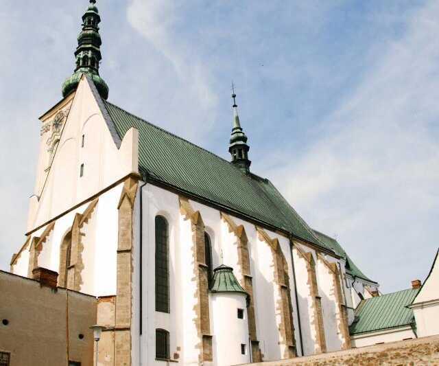 Kostel Povýšení svatého Kříže - Prostějov námětí T.G.Masaryka